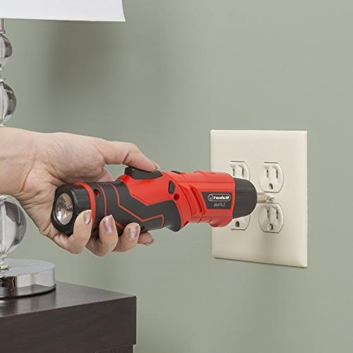 Pivoting Screwdriver Set-Pivoting Tool with 3.6V Battery, LED and Stalwart