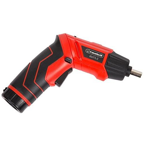 Pivoting Screwdriver Set-Pivoting Power with Rechargeable LED Bits, and