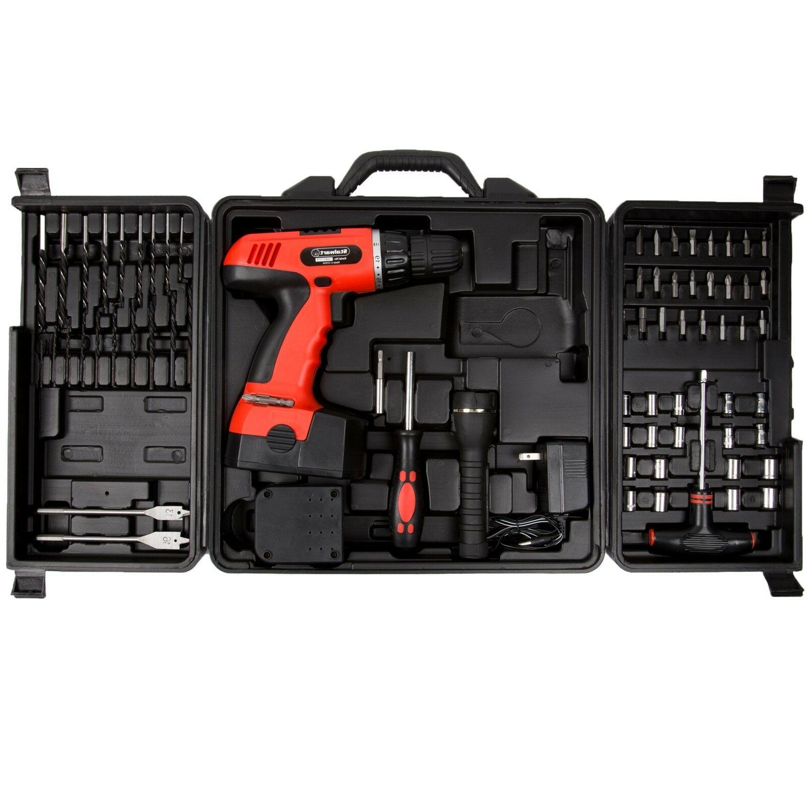 78 pc 18 volt cordless drill set