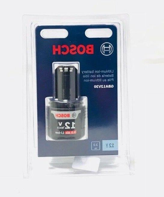 Bosch GBA12V30 12V Max 3.0 AH Lithium-Ion Battery New