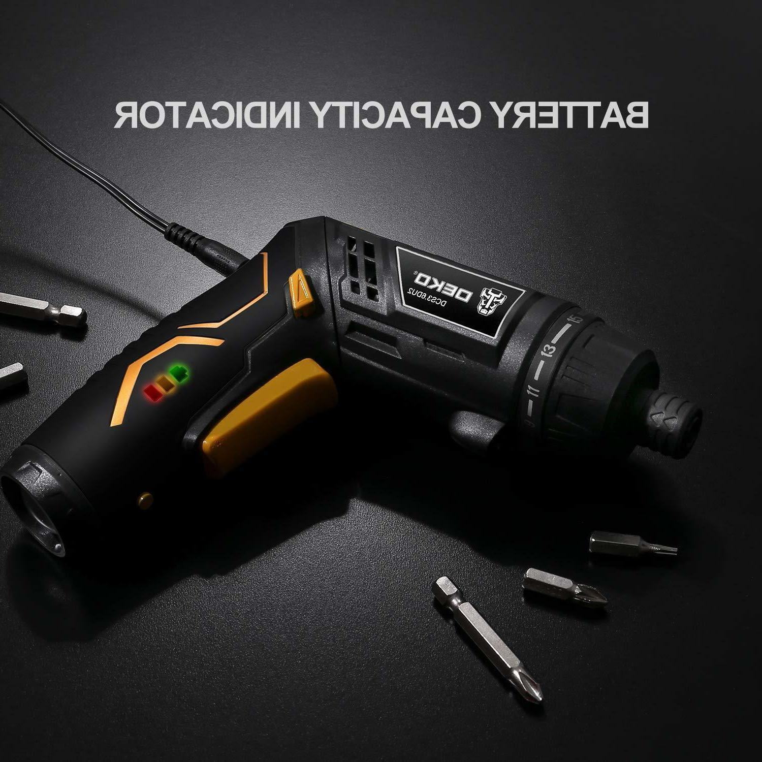 Electric Cordless Screwdriver Battery Driver