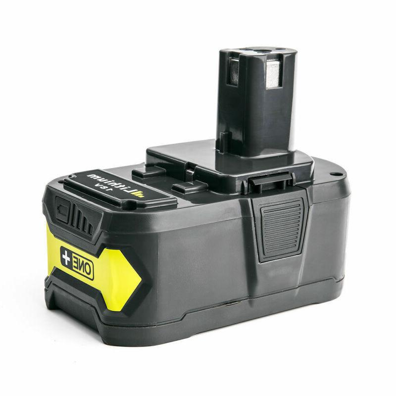 Replacement Li-ion Battery For RYOBI ONE+ 18 Volt Cordless D