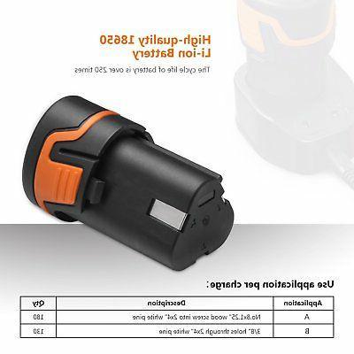 Tacklife 12V Lithium-Ion Drill/Driver Kit - 3/8-inch