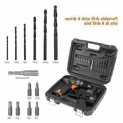 Tacklife Drill/Driver Kit 3/8-inch