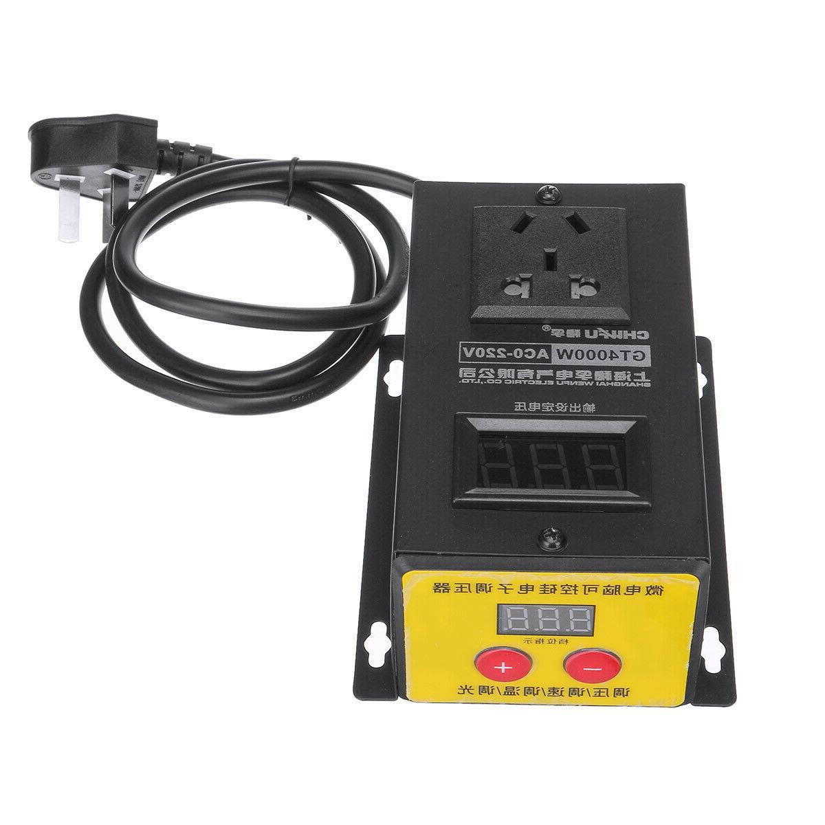 AC 220V Variable Voltage Regulator Power Motor Speed