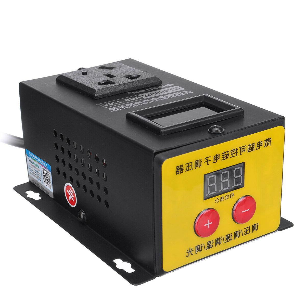 ac 220v 4000w variable voltage regulator power