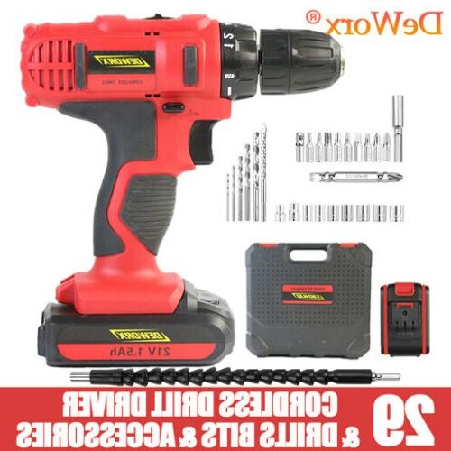 21V Drill 1500mAh Spare Fast Charg 29PC Tool Set