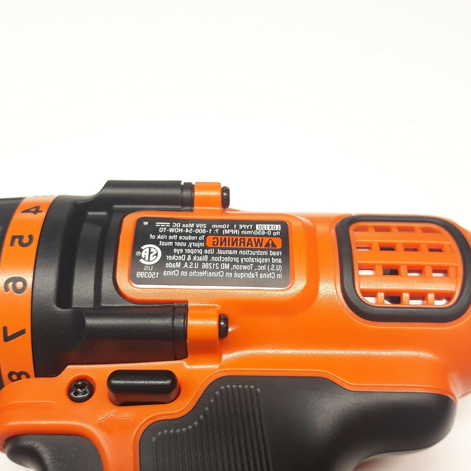 Black Decker Max Lithium LDX120 Cordless Drill / Driver