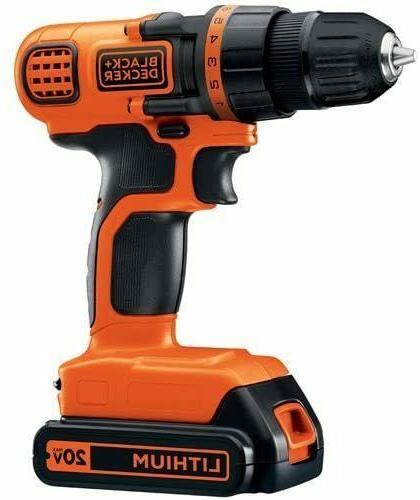 BLACK+DECKER 20V MAX Cordless Drill / Driver, 3/8-Inch