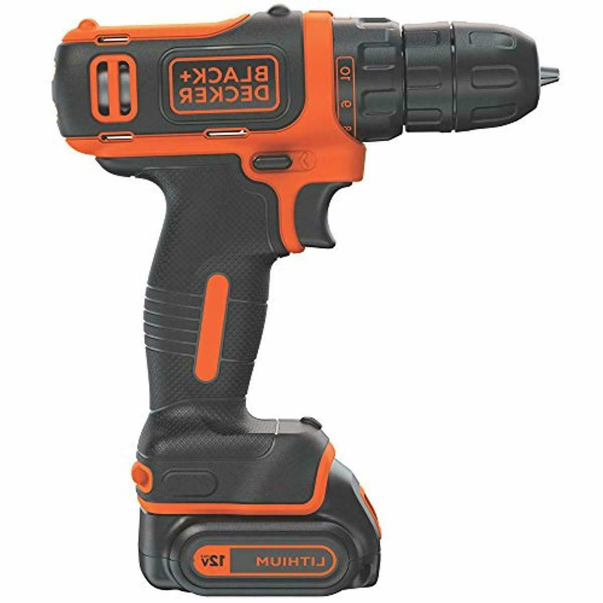 BLACK+DECKER 12V Cordless Drill/Driver