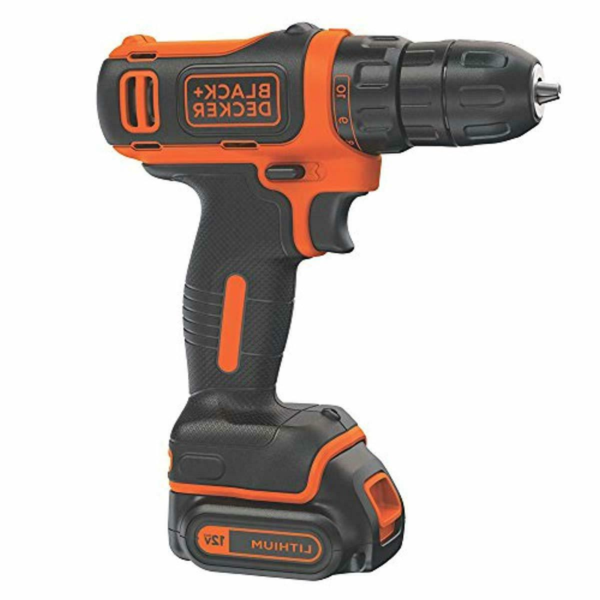 black decker 12v max cordless drill driver