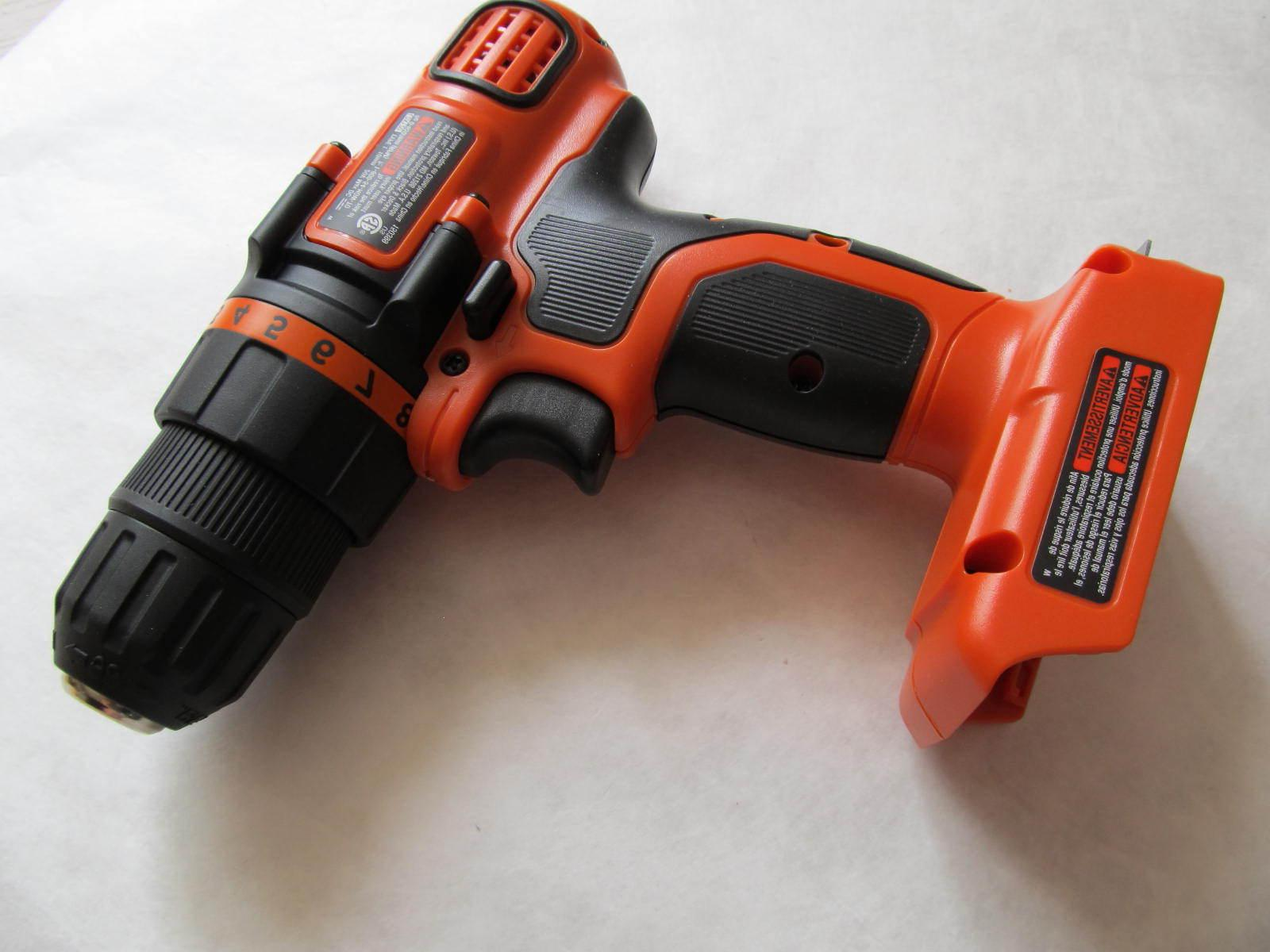 Black Decker Cordless Drill Light