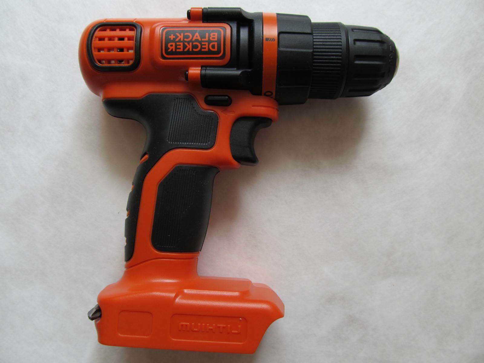 black decker ldx120 20 volt cordless drill