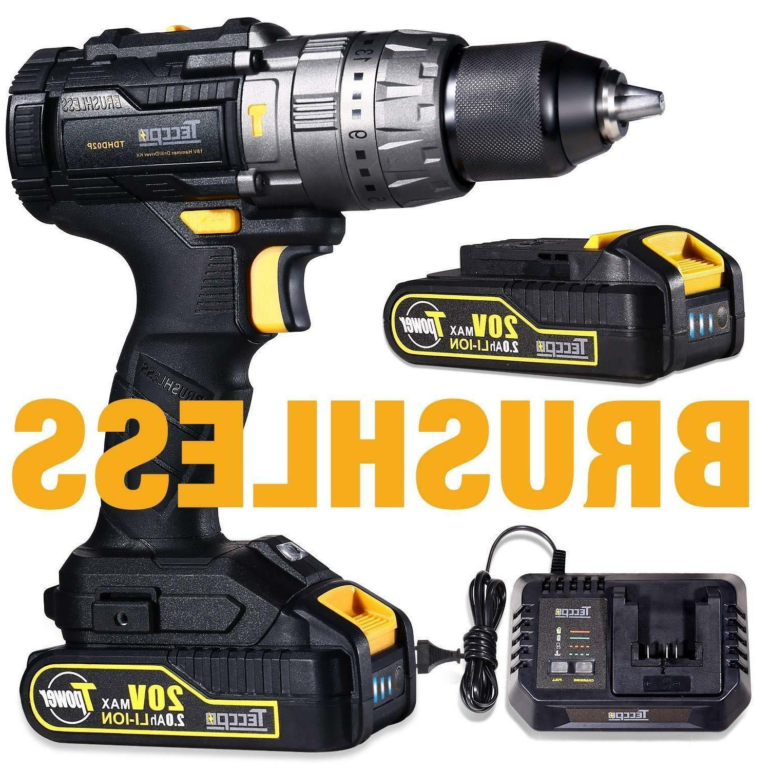 brushless drill driver 20v max cordless drill