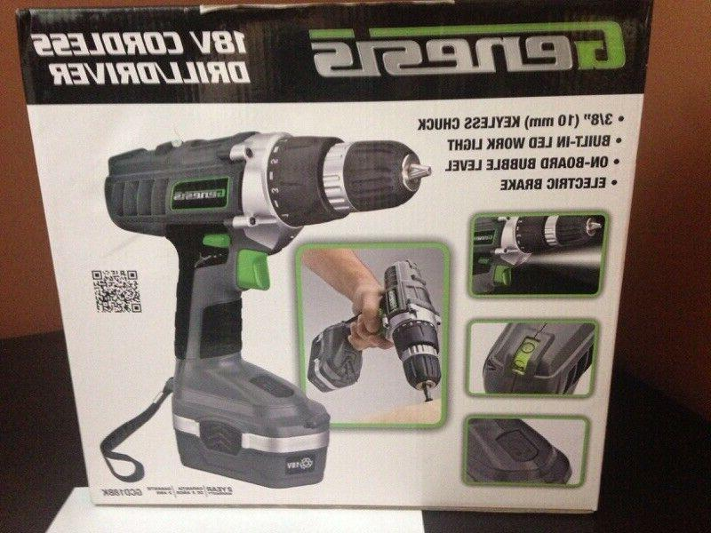 Genesis Cordless 18v with Accessories, Work & Level