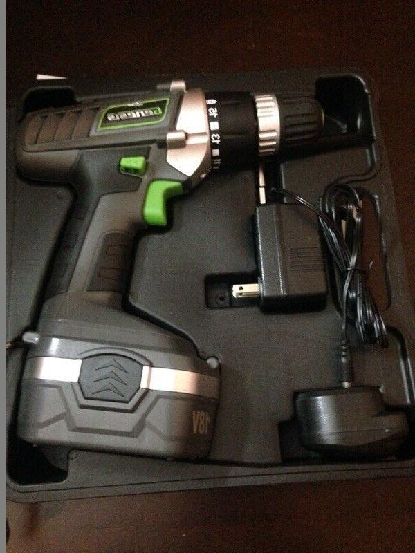 cordless 18v drill driver with accessories work