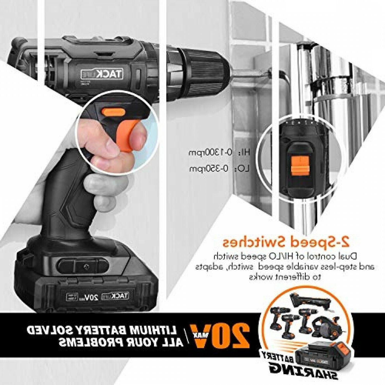 Cordless Drill, Tacklife 20V Drill