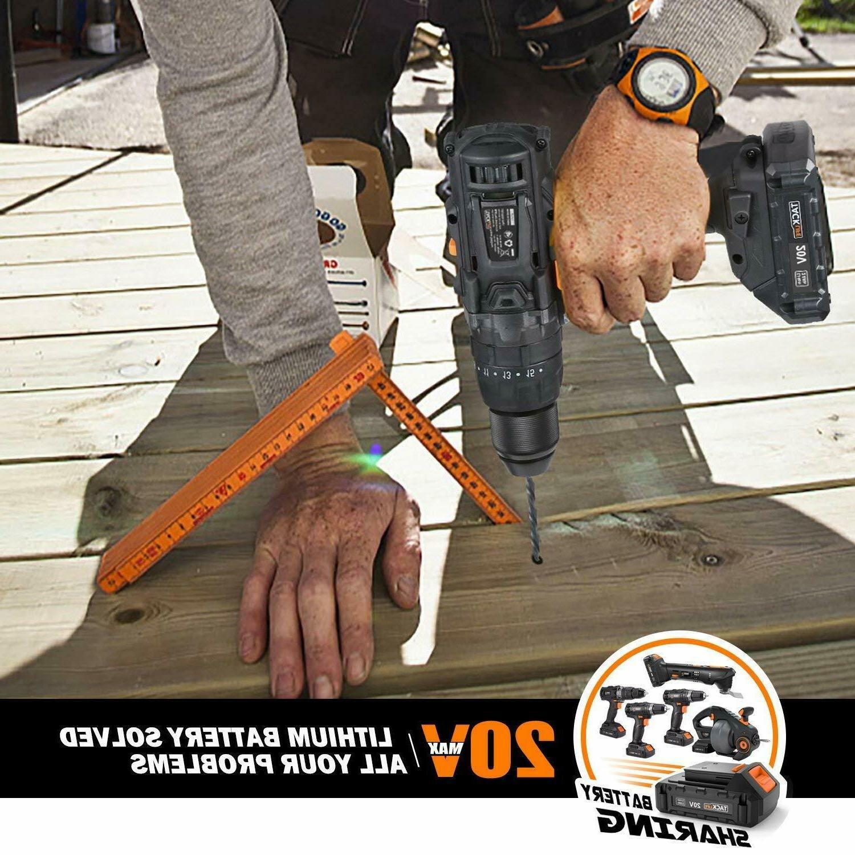 Cordless Drill, TACKLIFE 20V Electric Chuck Hammer Functio