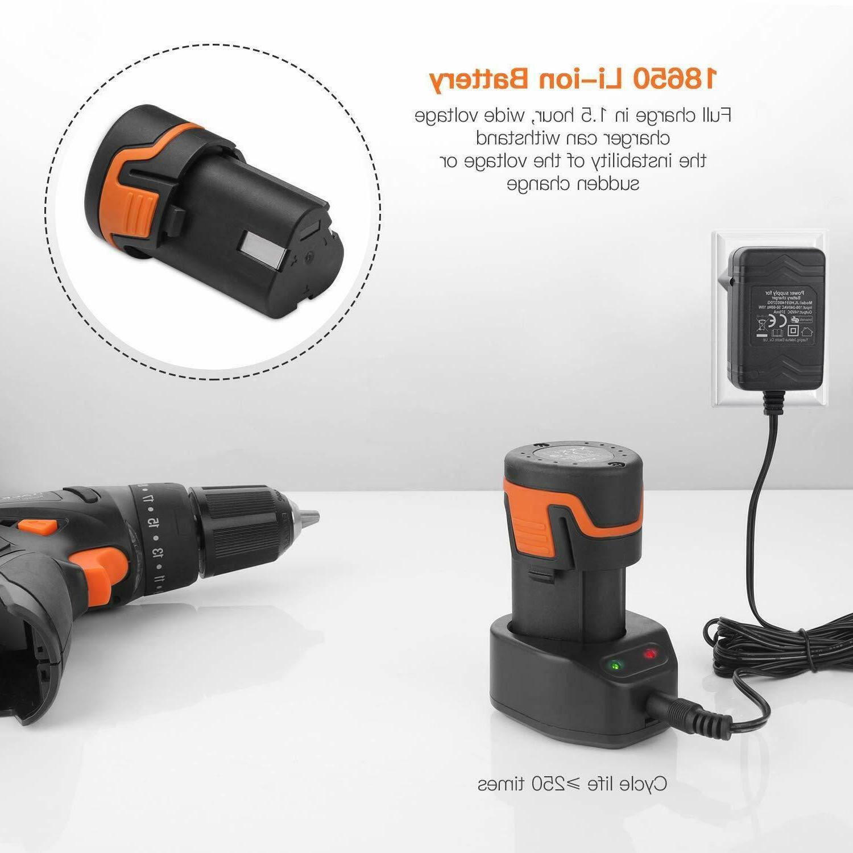 Cordless Drill, Driver 2000mAh Li-on 12V 3/8-Inch