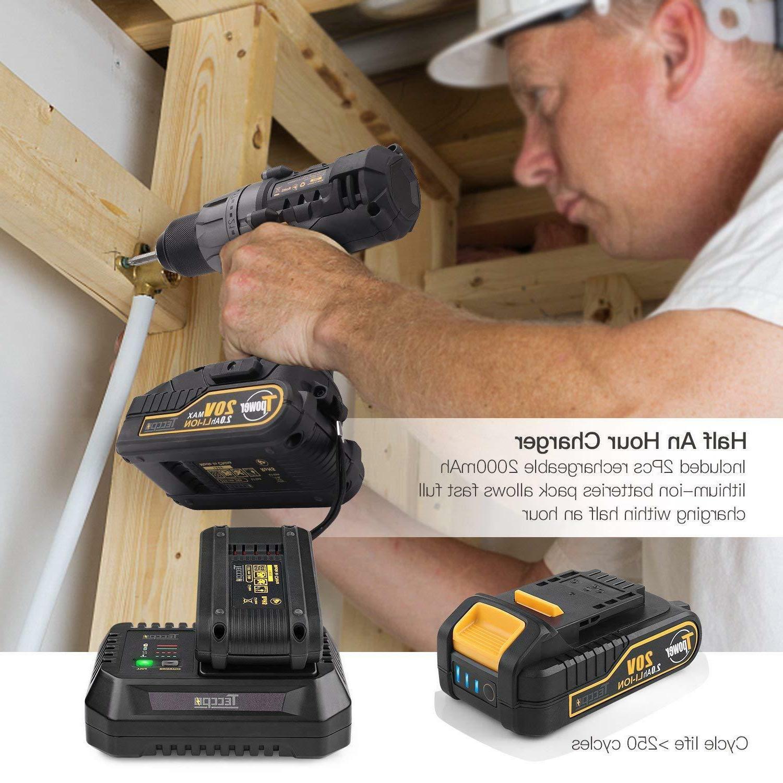 Cordless TECCPO In-lbs Drill with Bat