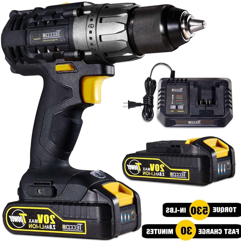cordless drill driver 20v max 530 in