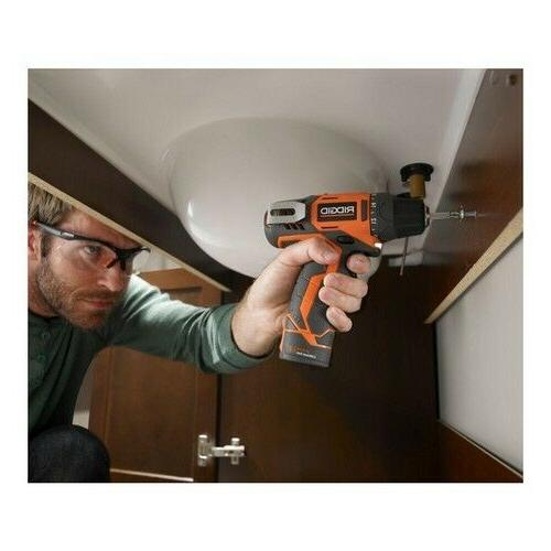 Cordless Inch Bare Tool Ion 12 Volt Speed LED