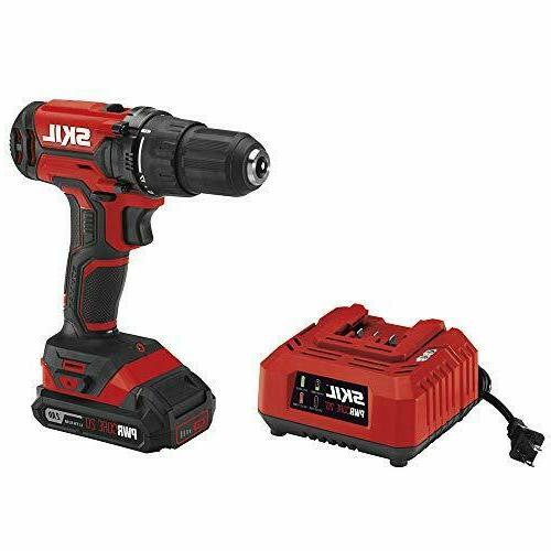 SKIL Cordless Drill Driver, Driver and PWRAssist Charging Adaptor, Lithium -
