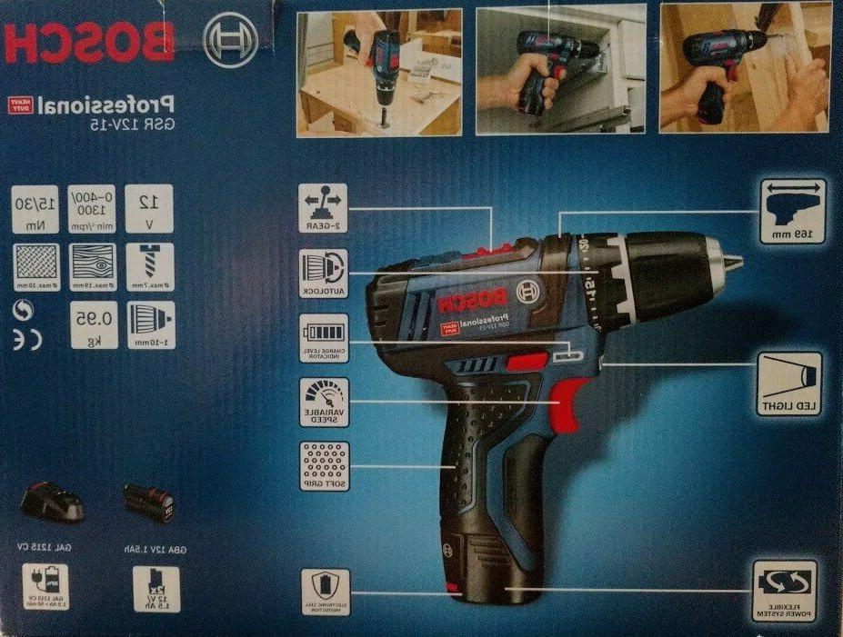 Bosch Drill Driver GSR 12V-15 Voltage 1.5Ah Capacity