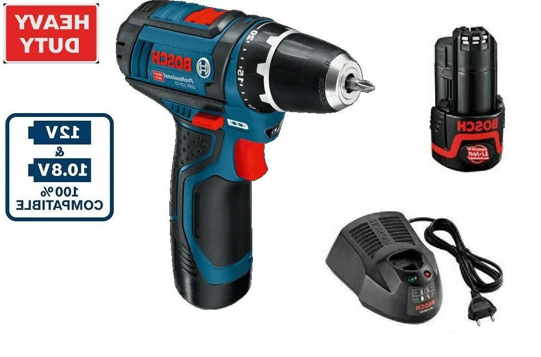 Bosch Cordless Drill Driver GSR 12V-15 12V Voltage 2x1.5Ah C