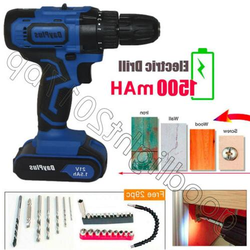 Cordless Driver Rechargeable Electric Screw Repair Tools