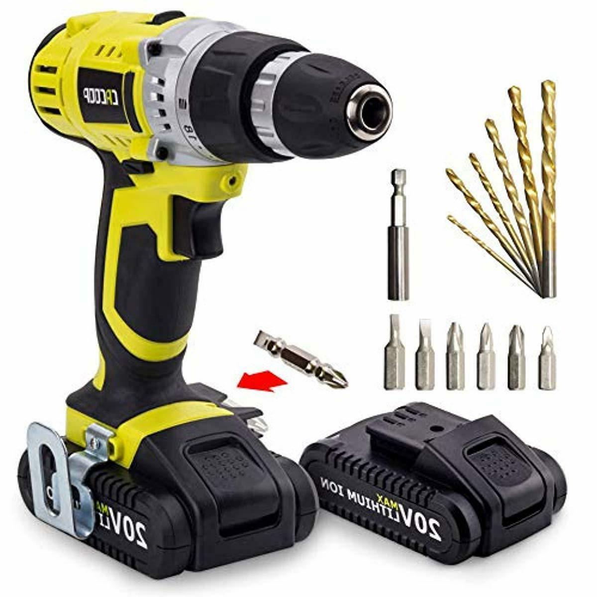 20v max cordless drill driver set