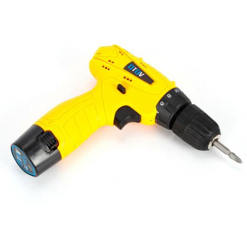 Cordless 12V Lithium-Ion Electric Screwdriver