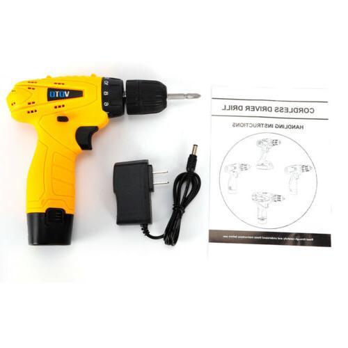 Cordless Drill Kit 12V 2Speed Screwdriver
