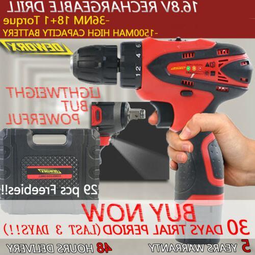 cordless drill kit set 16 8v
