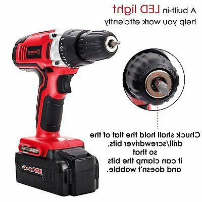 Cordless Drill WORKSITE CD312-18N 18-Volt Battery