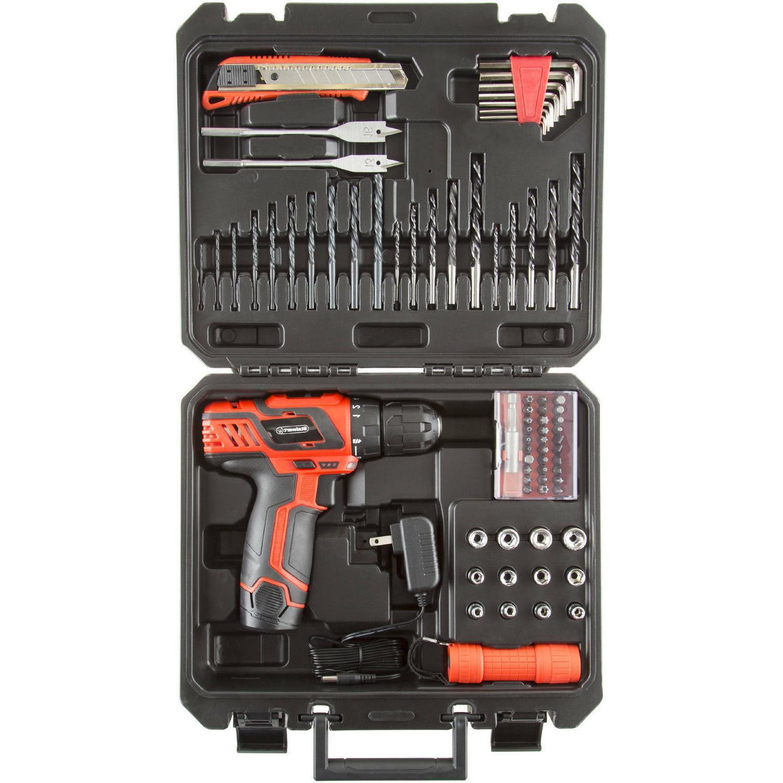 Cordless Drill 75Pc Kit Portable Bundle Tool