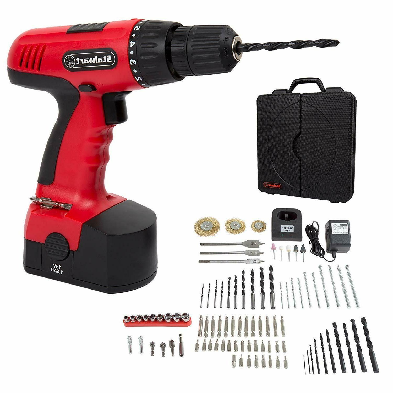 cordless drill set 89 piece kit no