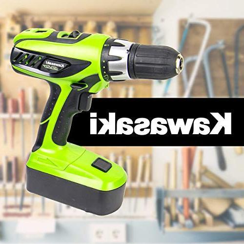 Kawasaki 19.2V Drill Set
