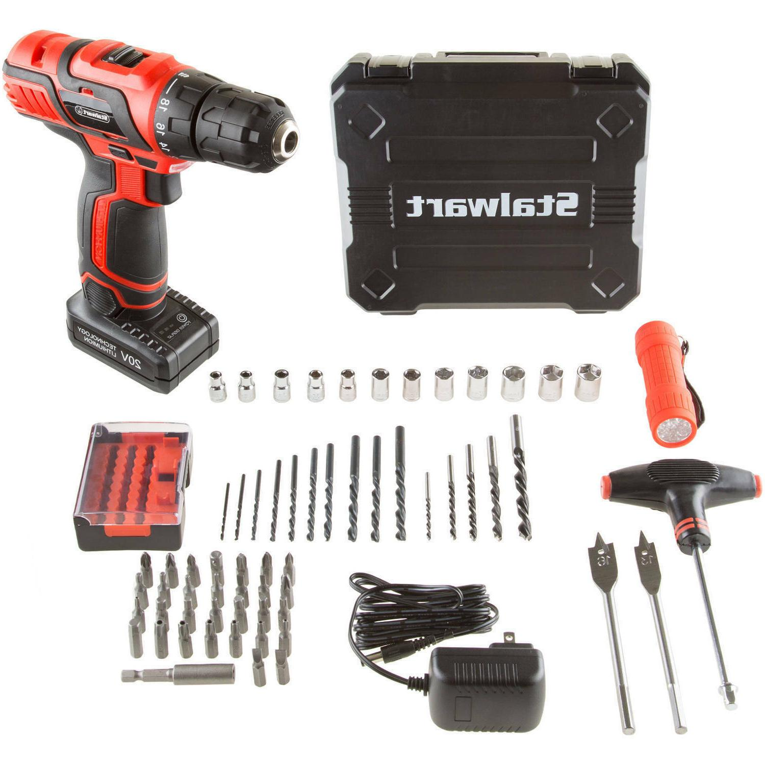 cordless drill w socket wrench
