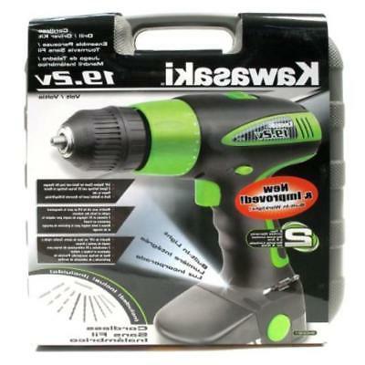 Cordless Drills Kawasaki 840051 Black 20 Piece Kit New