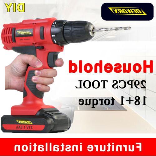 cordless electric drill 1500mah li ion battery