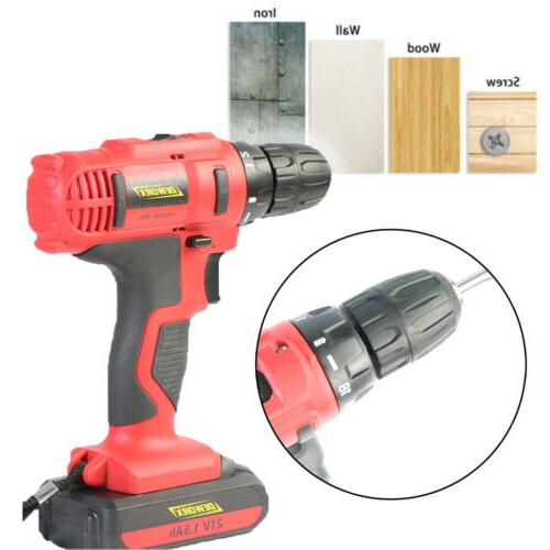 21V Cordless Electric Power Drill Driver Screwdriver & Battery