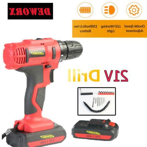 21V Drill & Battery