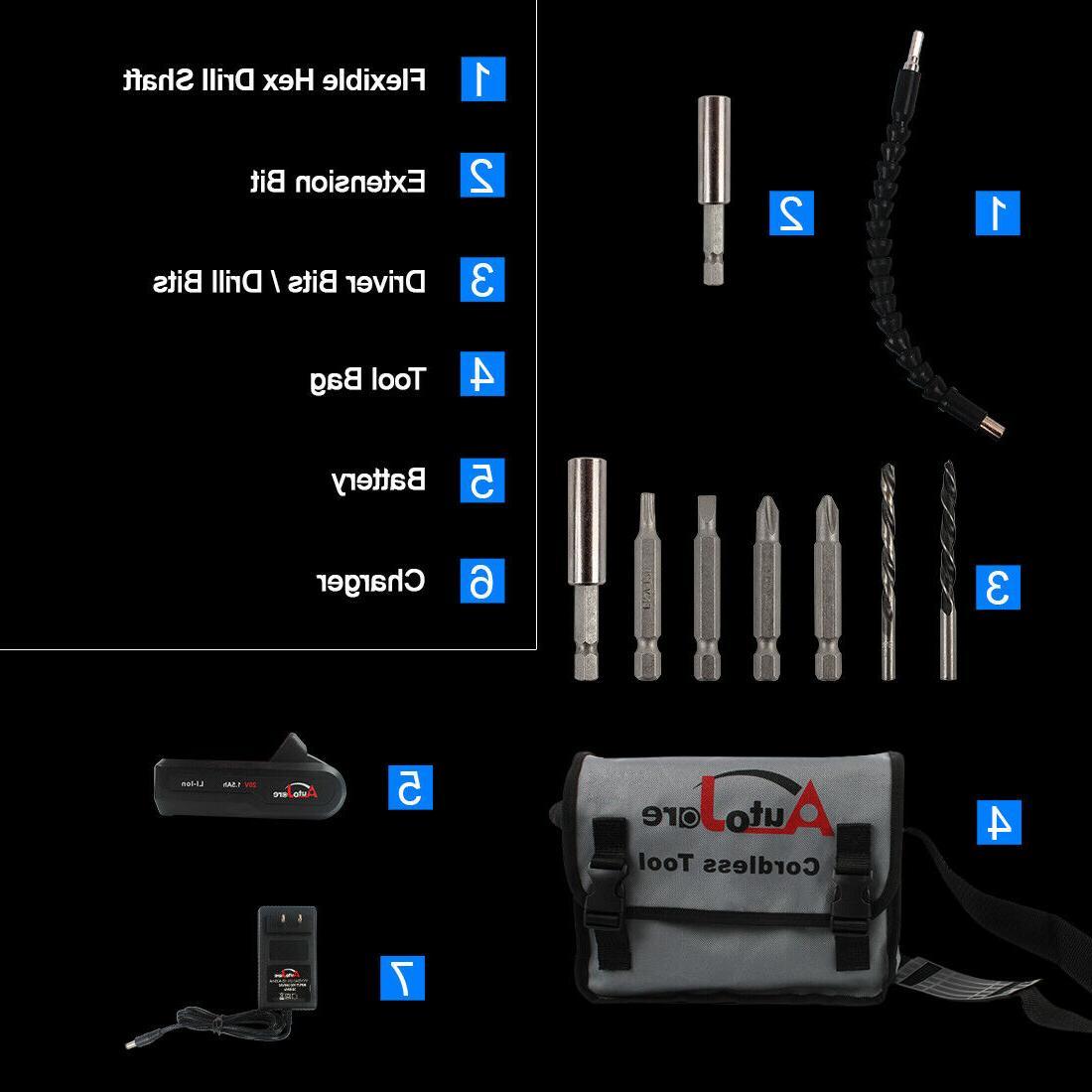 Cordless Impact Screwdriver bits electric tool 18v