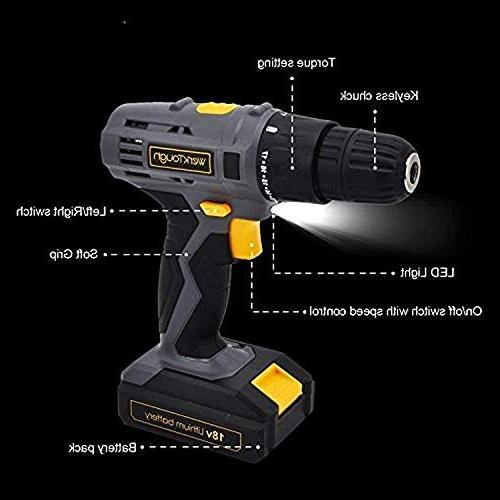 Toolman Rechargeable Precision Drill with Torque 2 20 V, with Makita Ryobi