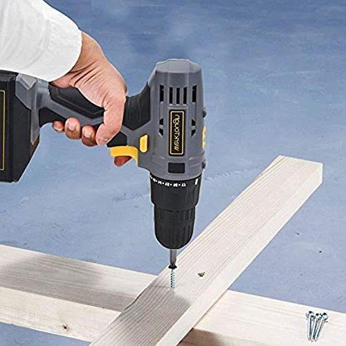 Toolman Cordless Screwdriver Rechargeable Precision Drill with Torque 2 V, includes Bits works with Makita