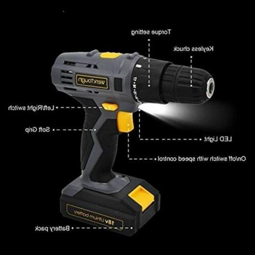 cordless screwdriver rechargeable precision drill