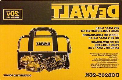 DeWalt dcb205 20-Volt Battery dcb115 Charger Bag DCB205-2CK new