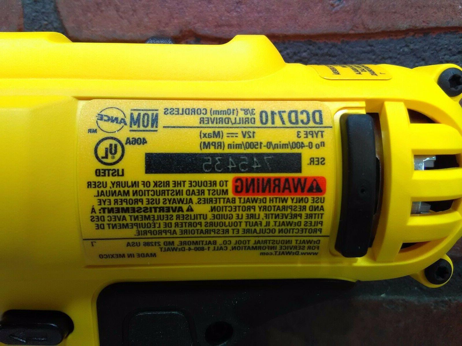 Dewalt DCD710B 12V Cordless 3/8 Drill Driver