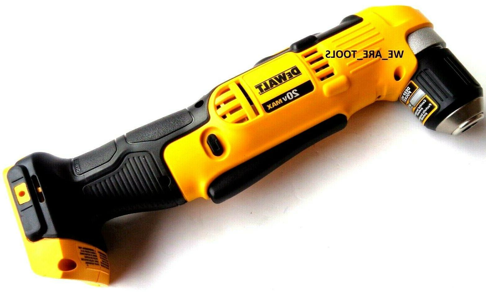 Dewalt DCD740 20V 3/8 Cordless Right Angle Drill,2) DCB200 3